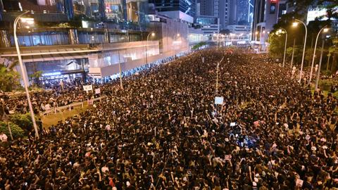 'Almost two million' protest in Hong Kong as extradition anger boils