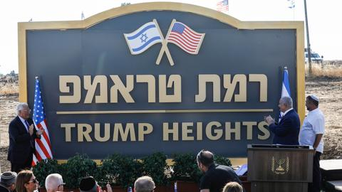 Israel launches 'Trump Heights' on occupied Golan Heights