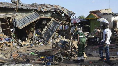 At least 30 dead in Nigeria triple suicide bombing