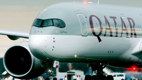 How could an escalation in Iran-US tensions affect Qatar's air routes?