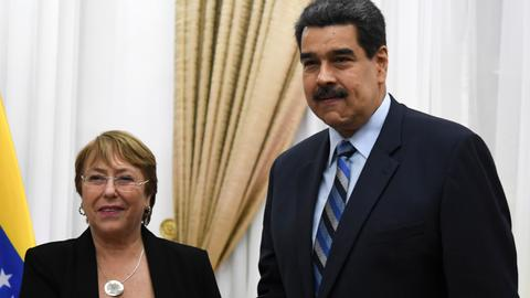 UN rights chief meets Maduro – Venezuela crisis
