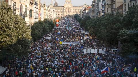 Prague set to see biggest protests since Velvet Revolution