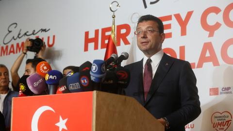 Democracy wins, top two Istanbul mayor candidates say as Imamoglu leads