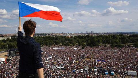 The largest protests since to fall of communism rock the Czech Republic