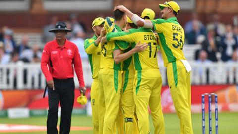 Australia crush England to reach cricket World Cup semi-finals