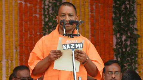 Hardline Hindu politician takes helm in India's Uttar Pradesh