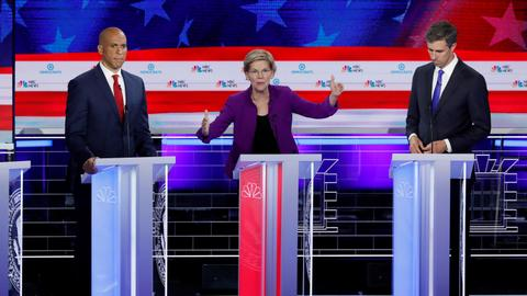 Warren leads Democrats in spirited first 2020 debate