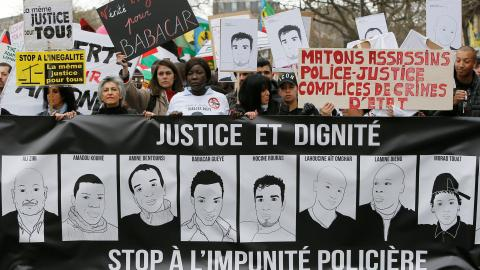 Thousands march against police violence in France