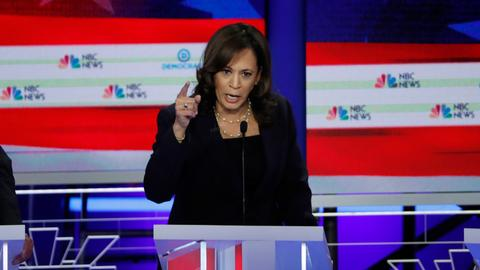 Who dominates the Democratic debate so far?