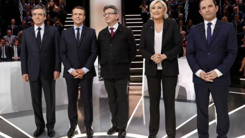 Le Pen's policies come under fire in first French presidential debate