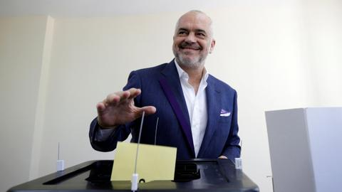 Ruling socialist party receives most votes in Albania, in a boycotted vote