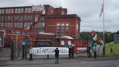 Activists occupy UK-based factory of Israeli arms manufacturer Elbit
