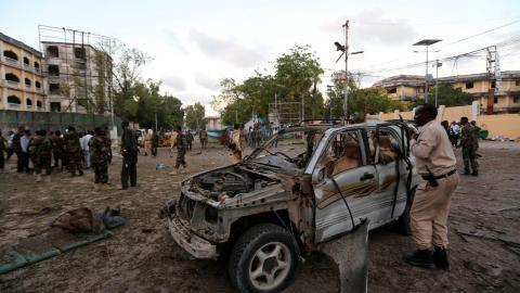 Explosion and gunfire in Somali capital Mogadishu