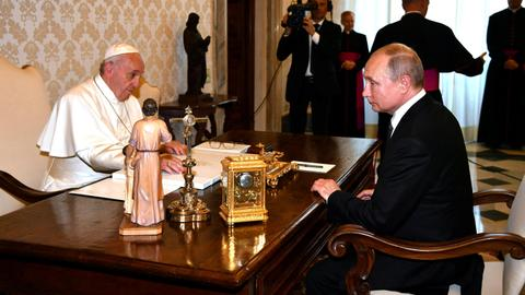 Putin, visiting Italy, says hopes Rome can help mend Moscow-EU ties