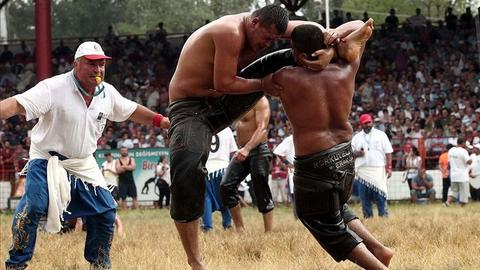 Battle of grease and wit to top Turkey's 658th oil wrestling competition