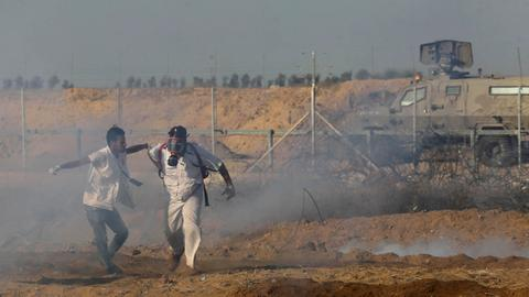 Nearly 100 injured in Gaza border protests