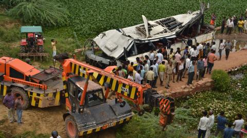 At least 29 killed in bus crash on Indian expressway