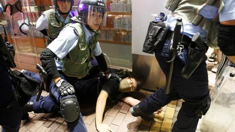 Hong Kong police arrest five after new night of clashes