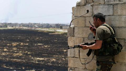 Clashes kill 56 combatants in north-west Syria