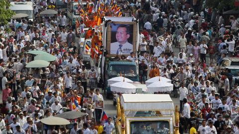 Cambodian activist's killer sentenced to life in jail