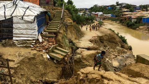 Deadly monsoon destroys 5,000 shelters in Bangladesh Rohingya camps