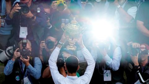 Serbian Djokovic beats Federer, triumphs at Wimbledon Final