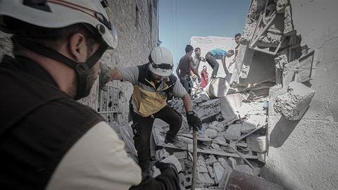Regime air strikes kill at least 11 civilians in Syria's de-escalation zone