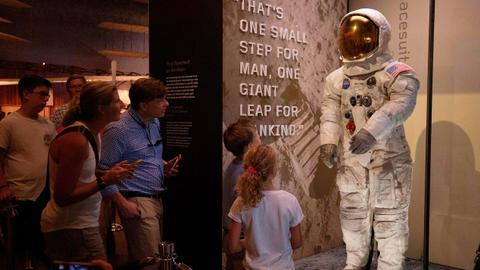 Neil Armstrong's Apollo 11 spacesuit redisplayed at Smithsonian