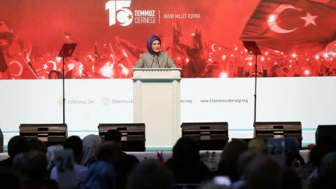Emine Erdogan says coup victims won't be forgotten