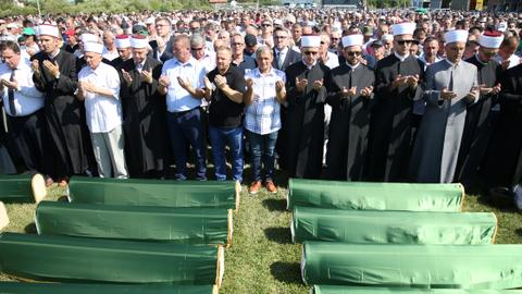 Bosnia buries 86 victims of 1992-95 war recovered from grisly ravine