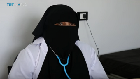 Displaced doctor continues her work in Syria's Idlib