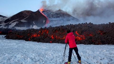 Volcanologists track Mount Etna's activity