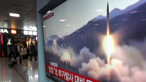 North Korea fires short-range missiles into sea
