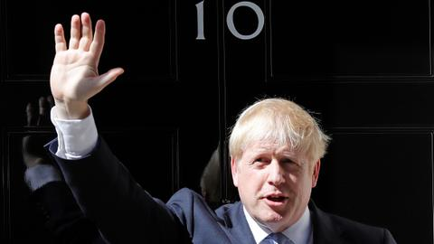 British Prime Minister Boris Johnson holds first cabinet meeting