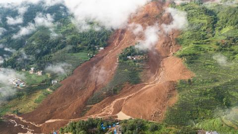 Death toll of landslide in China rises to 20 with 25 people still missing