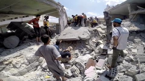 Syria air strikes killed at least 100 civilians in past 10 days - UN