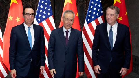 US-China trade meetings end - The last 24 hours in pictures