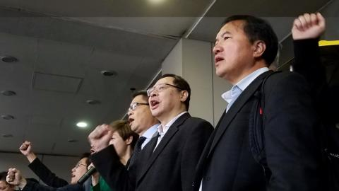 Hong Kong's Umbrella Movement leaders appear in court