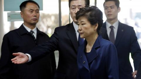South Korean court approves arrest of former president Park
