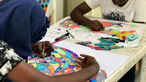 Meet the young man using art to help patients in Nigerian hospitals