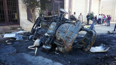 Car bomb kills three UN staff outside mall in Libya's Benghazi - officials