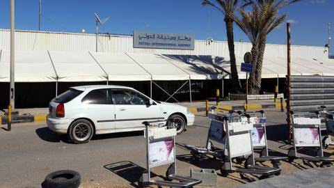 Rocket fire hits Libya airport, breaking Eid truce