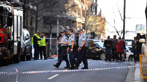 Woman stabbed in central Sydney knife rampage, suspect arrested