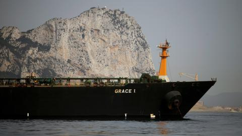 Grace 1 shifts position but still at anchor off Gibraltar - Gulf tensions