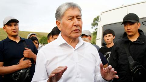 Detained former Kyrgyzstan president accused of plotting coup