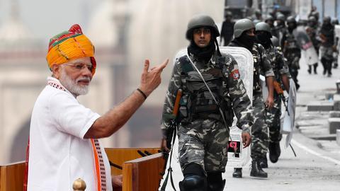 India celebrates independence day despite Kashmir being under lockdown
