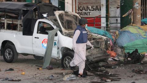 Blast kills at least five at Pakistan mosque - police