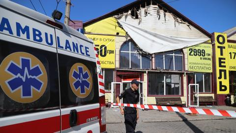 Nine killed in Ukraine hotel fire