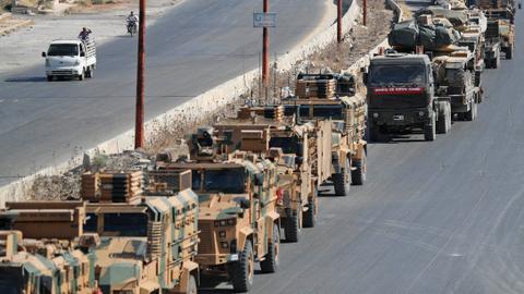 Air strike on Turkish convoy kills 3, injures 12 in Syria's Idlib