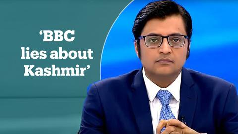India's most famous anchor calls BBC's coverage of Kashmir 'fake news'